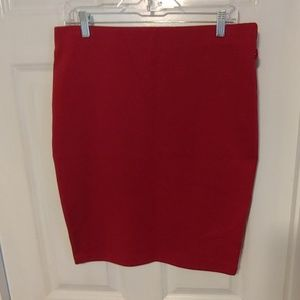 3/$10 Red Stretchy Skirt - Large
